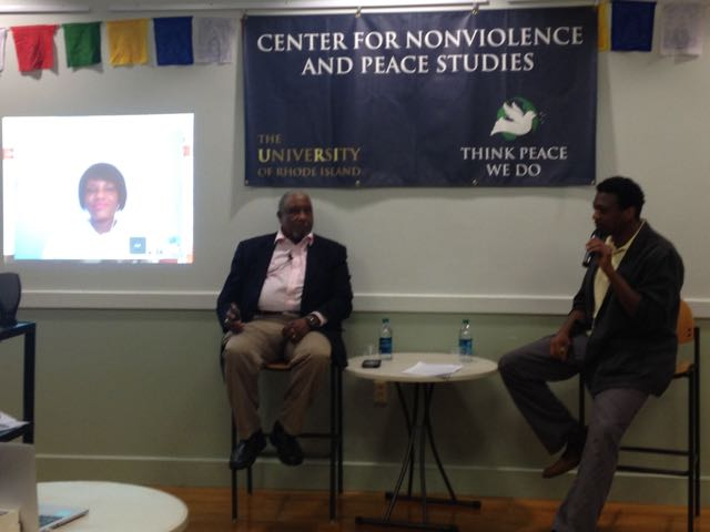 "Discussion panel on ""From Selma to Ferguson – The March Continues"" by Prof. Dave Ragland, Dr. Bernard LaFayette, and Rev. Cori Bush"